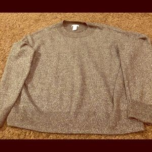 H&M Silver Sweater size XL